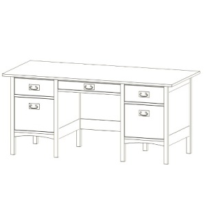 Mission Double Pedestal Desk