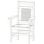 Spindle Arm Chair with Craftsman Back