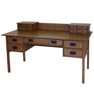 Mission hardwood desk