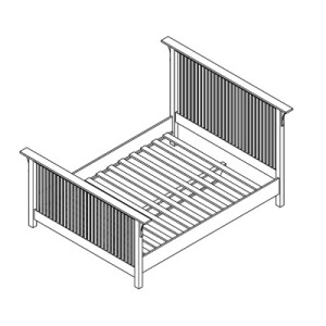 Mission Spindle Bed Twin
