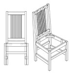 Narrow Spindle Side Chair