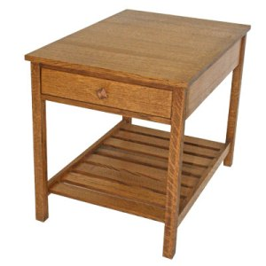 One Drawer Slat Table