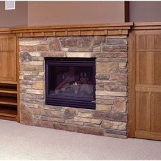Lake Country Construction Palmberg Home Balsam Lake, WI Family Room Fireplace Mantel, Woodwork, Storage Cabinetry Quarter Sawn Oak (Stained)