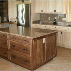 Jaderborg Designer Builder Bye Home Shell Lake, WI Kitchen Walnut Maple (Natural)