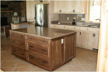 Jaderborg Designer Builder Bye Home Shell Lake, WI Kitchen Walnut Maple (Natural)