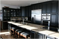 Zimmerman Construction Beaver Lodge Shell Lake, WI Kitchen Maple (Black Paint Distressed)