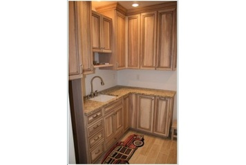 Zimmerman Construction Beaver Lodge Shell Lake, WI ,Laundry Room Hickory (Stain & Glaze)
