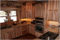 Lake Country Construction Ryan Home Cumberland, WI Kitchen Hickory (Natural)
