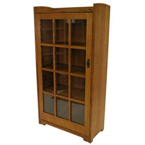 Single Glass Door Bookcase