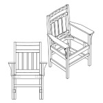 Slat Arm Chair with Craftsman Back