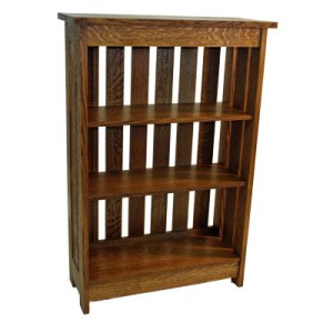 Slat Bookcase Cherry or Walnut