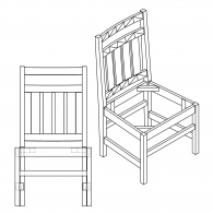 Slat Side Chair with Craftsman Back