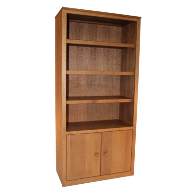 Tall Two Door Entertainment Qtr Sawn Oak